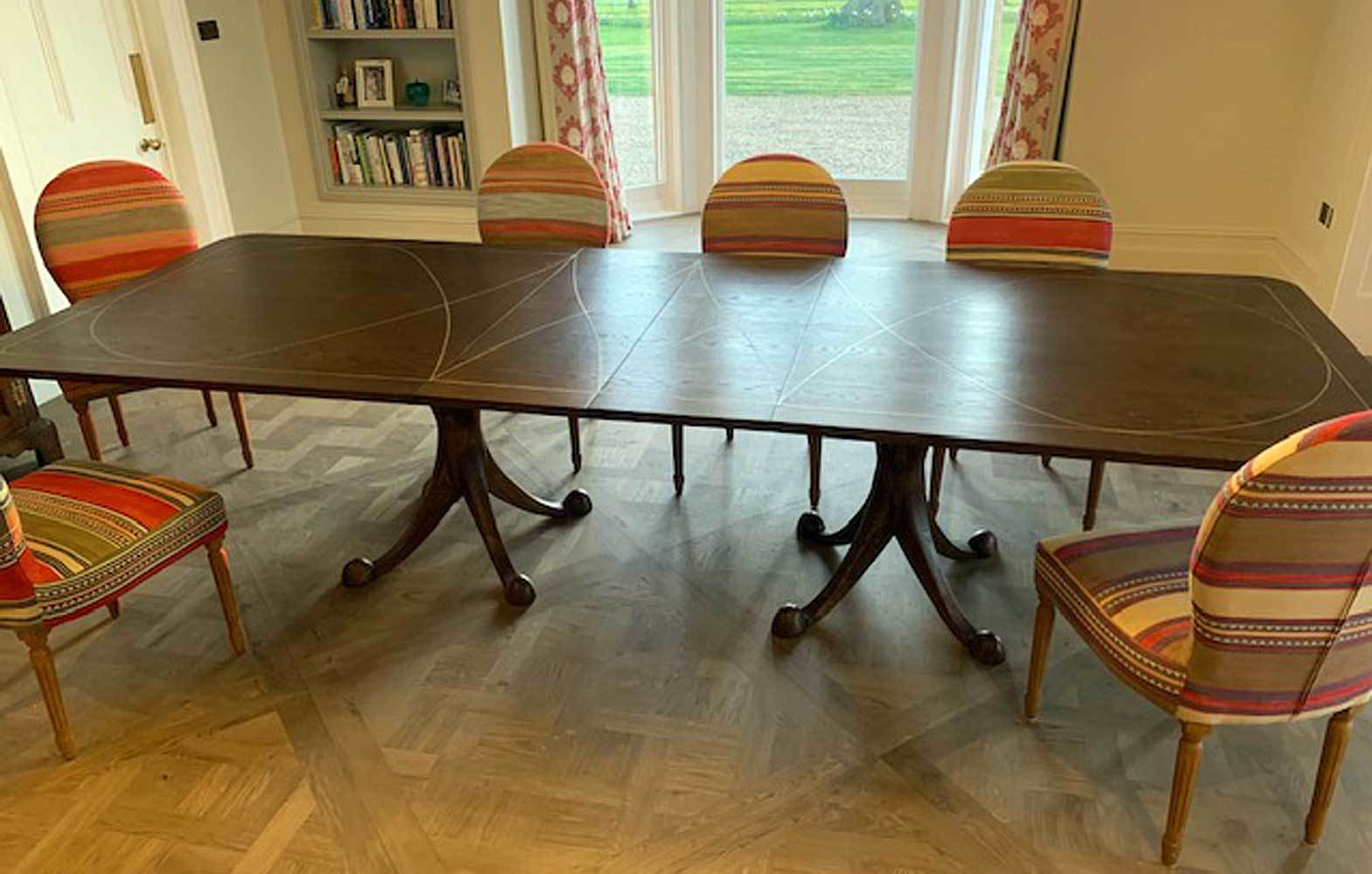 dark-stained-oak-dining-table