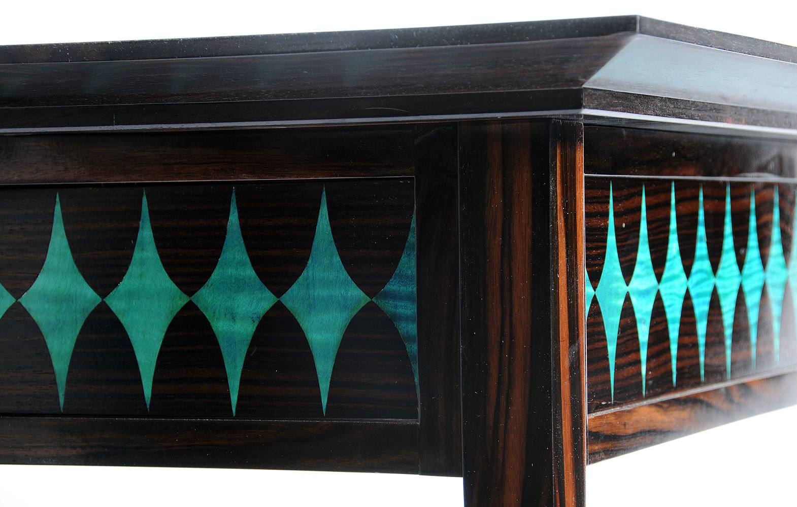 Macassar Ebony and Turquoise Table