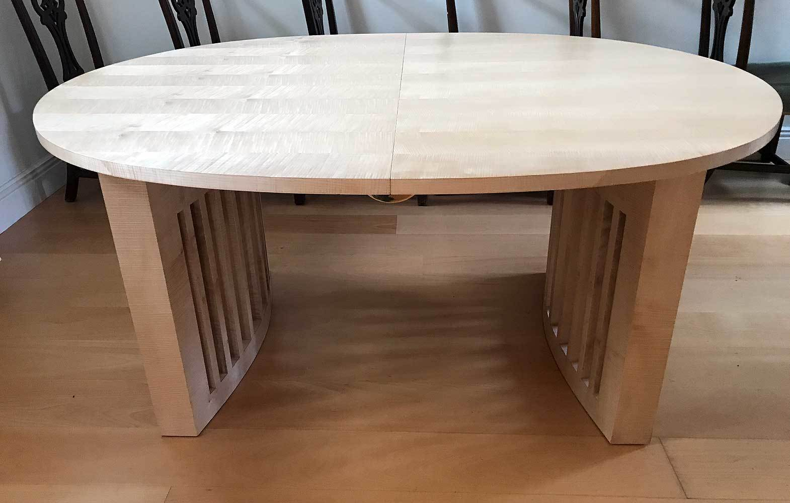 Rippled Sycamore Dining Table